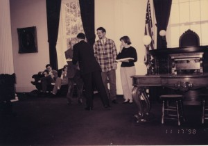 Paul and Elaine Manghi receiving the Governor's Award in 1998.